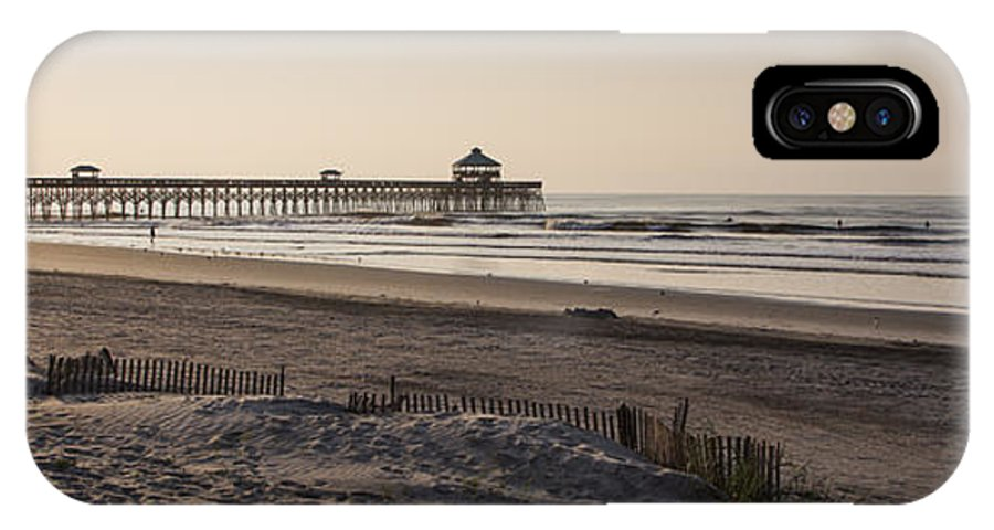 Folly Beach Morning IPhone X Case featuring the photograph Folly Beach Morning by Dustin K Ryan