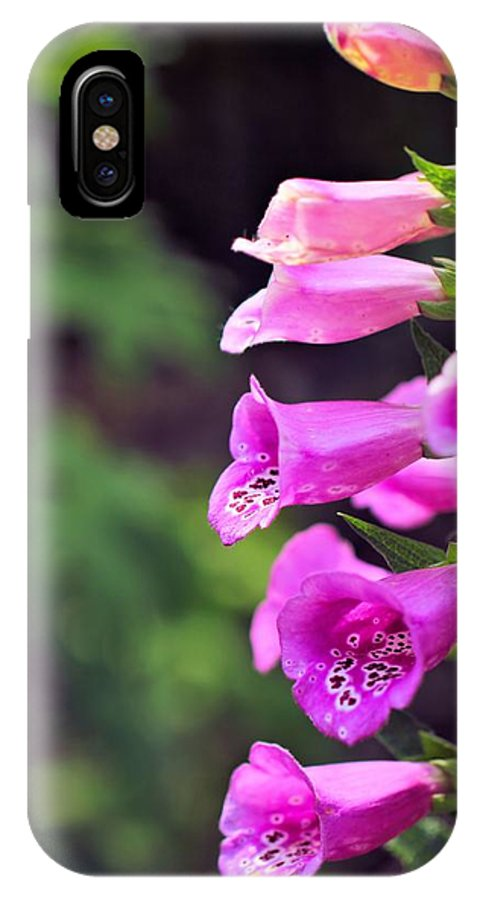 Foxglove Photo IPhone X Case featuring the photograph Foxglove by Katherine White