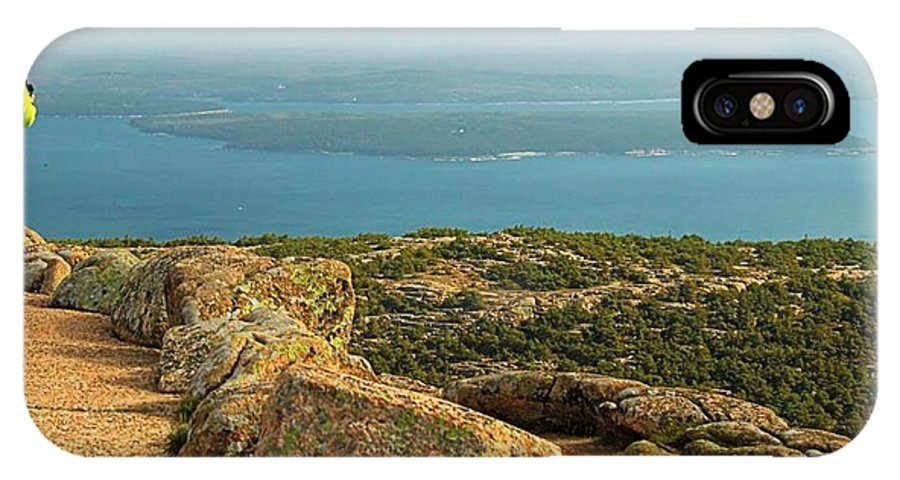 Maine IPhone X Case featuring the photograph Frenchman's Bay From Cadillac Mountain by Robert McCulloch