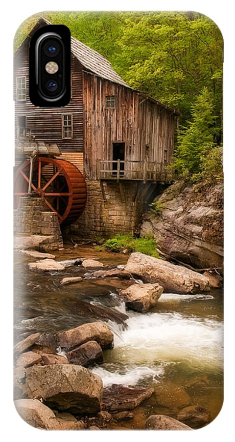Babcock IPhone X Case featuring the photograph Glade Creek Grist Mill by Michael Blanchette