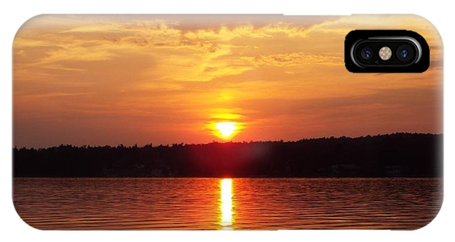 Ar IPhone X Case featuring the photograph Golden Sunset by Cynthia Croal