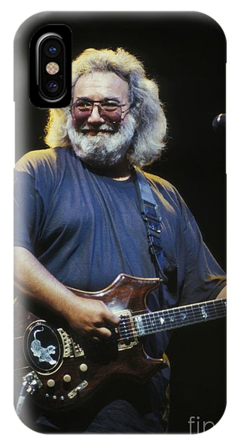 Singer IPhone X Case featuring the photograph Grateful Dead - Uncle Jerry by Concert Photos