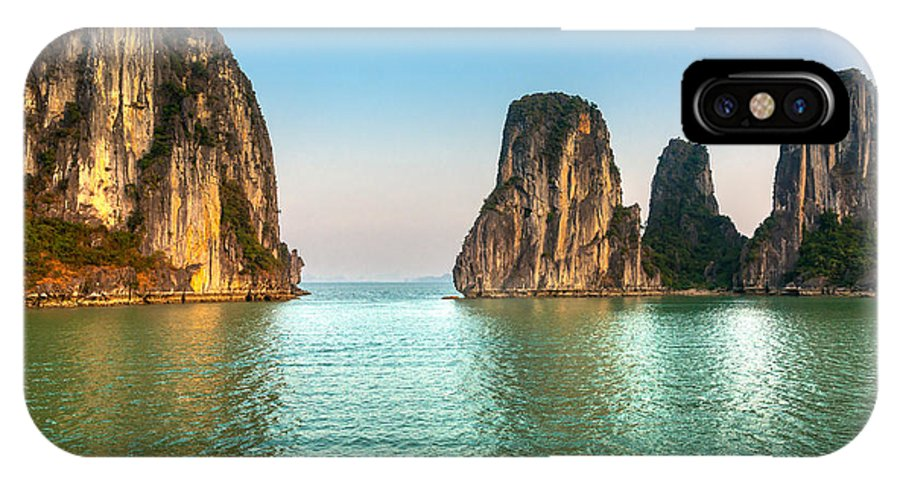 Asia IPhone X Case featuring the photograph Halong Bay -vietnam by Luciano Mortula