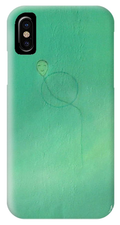Girl IPhone X Case featuring the painting Happiness Everyday by Min Zou