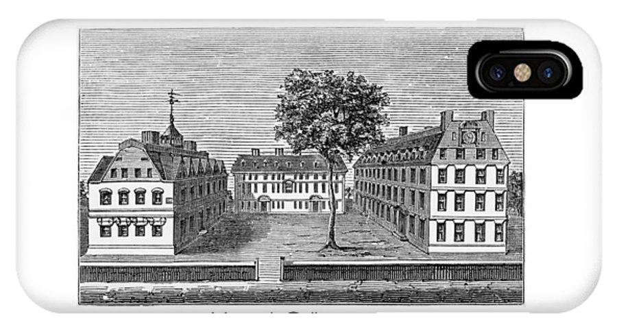 Harvard IPhone X Case featuring the digital art Harvard College - 1720 by John Madison