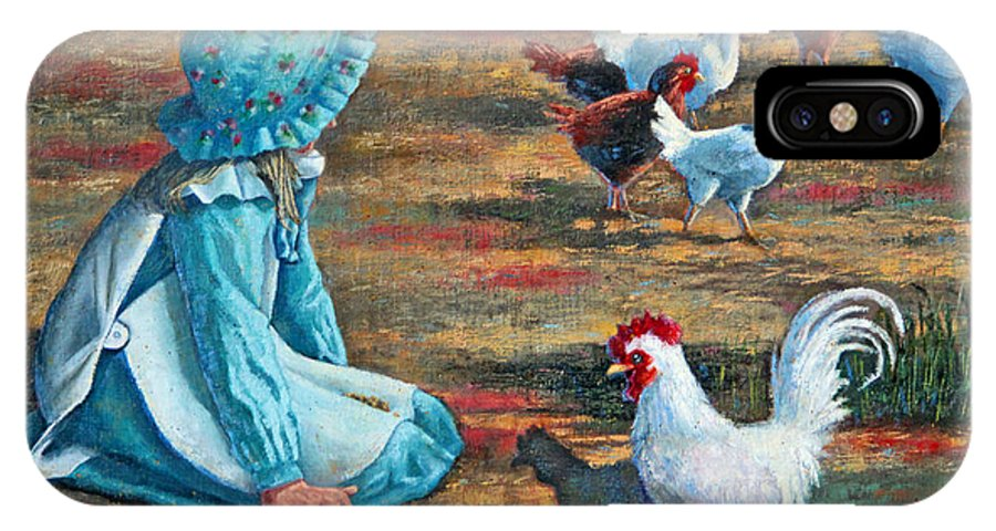 Western Art IPhone X Case featuring the painting Hey Good Lookin by Carolyn Kollegger