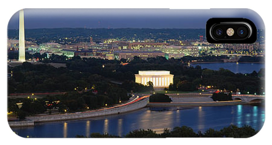 Photography IPhone X Case featuring the photograph High Angle View Of A City, Washington by Panoramic Images