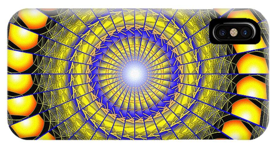 Sacredlife Mandalas IPhone X Case featuring the drawing Infinity Gateway Nine Kaleidoscope by Derek Gedney
