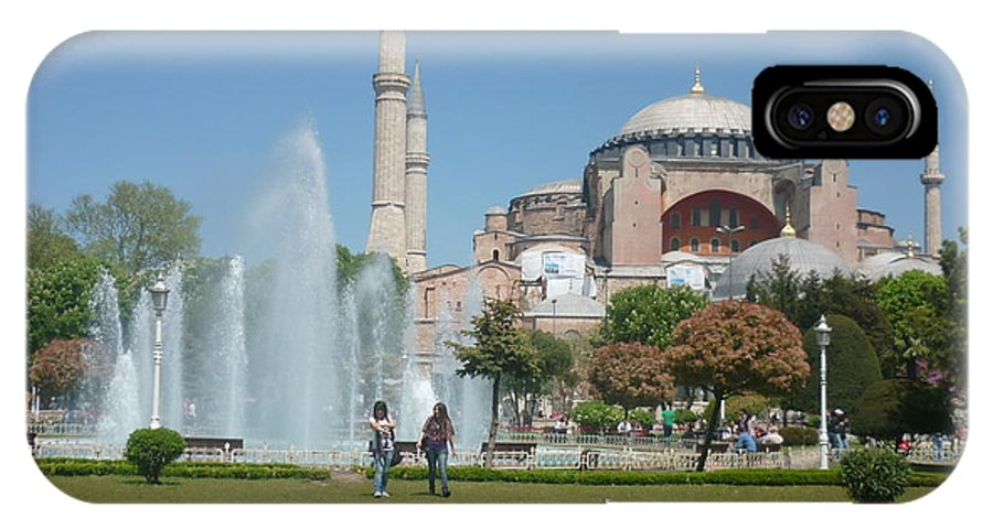 Turkey IPhone X Case featuring the photograph Istanbul Parki by Ted Pollard
