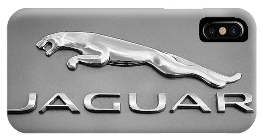Jaguar F Type Emblem IPhone X Case featuring the photograph Jaguar F Type Emblem by Jill Reger