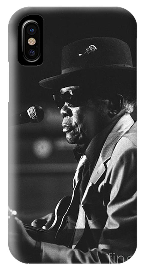 Blues Singer IPhone X Case featuring the photograph John Lee Hooker by Concert Photos