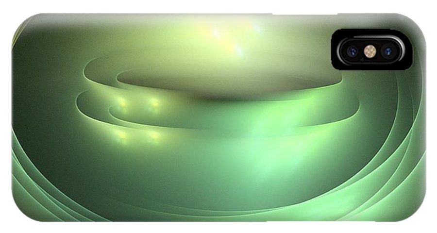 Apophysis IPhone X Case featuring the digital art Jupiter by Kim Sy Ok