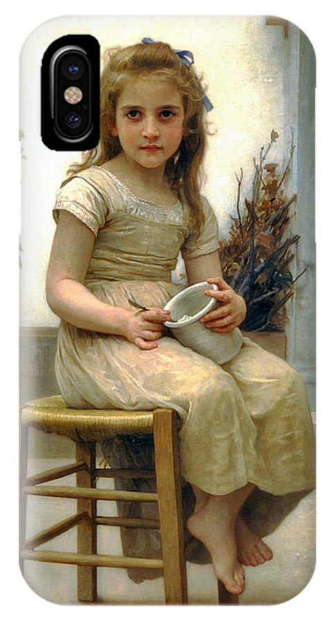Just A Taste IPhone X Case featuring the digital art Just A Taste by William Bouguereau