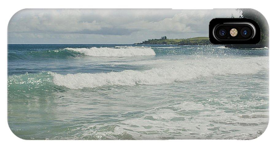 Aloha IPhone X Case featuring the photograph Kapalua Surf Honokahua Maui Hawaii by Sharon Mau