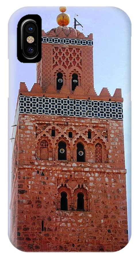 Koutoubia Mosque IPhone X Case featuring the photograph Koutoubia Mosque by Teresa Ruiz