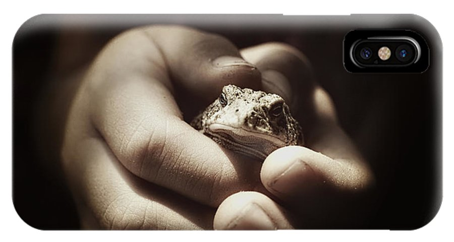 Toad IPhone X Case featuring the photograph Little Toad by Adam Vance