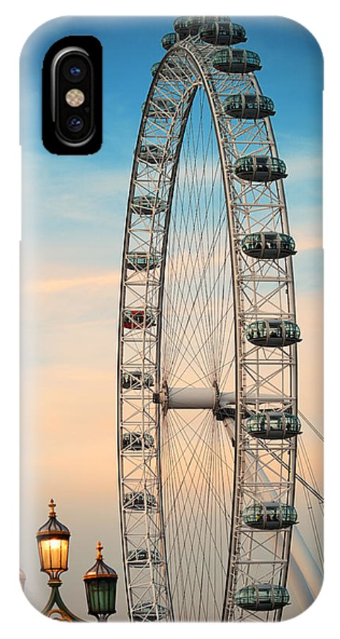 London IPhone X Case featuring the photograph London Eye by Songquan Deng