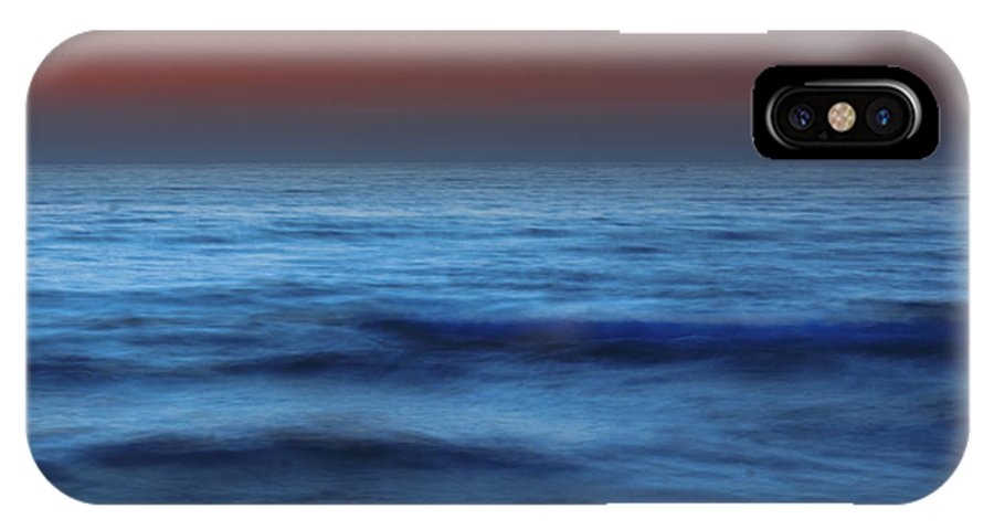 Water; Sea; Ocean; Nature; Exposure; Landscape; Horizon; Shore; Long; Sunset; Reflection; Outdoor; Coast; Sky; Long Exposure; Outdoor; Outside;  Dawn; Night; Nightime IPhone X Case featuring the photograph Long Exposure On Beach At Dusk by Ken Biggs