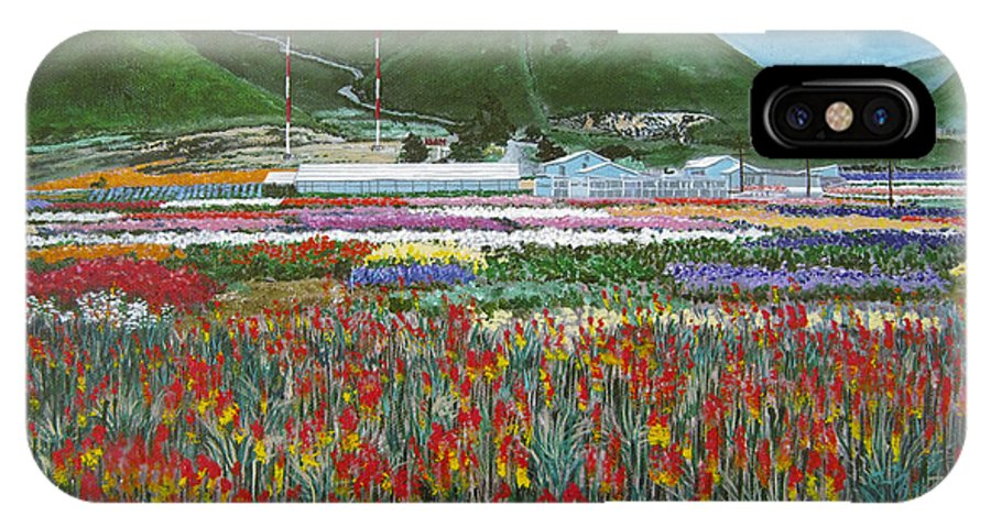 Flowers IPhone X Case featuring the painting Lookout Point by Angie Hamlin