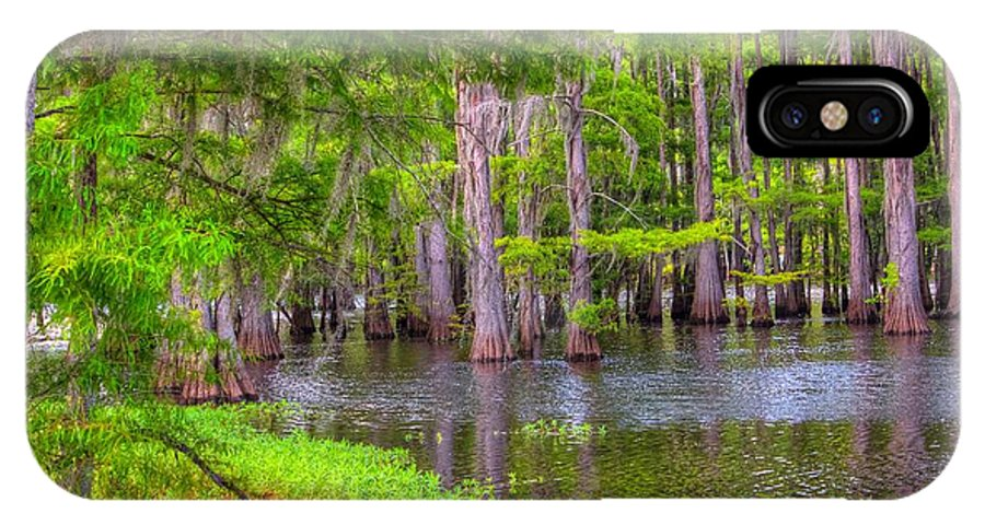 Bayou IPhone X Case featuring the photograph Louisiana Bayou by Ester Rogers