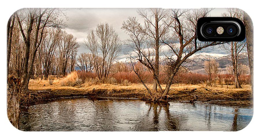 River IPhone X Case featuring the photograph Lower Owens River by Cat Connor