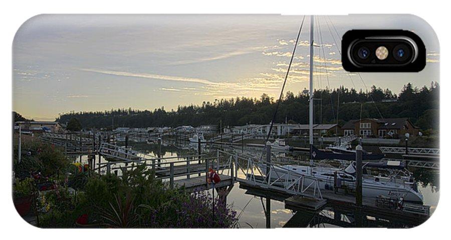 Sunrise IPhone X Case featuring the photograph Lucy's Home Port by Bob VonDrachek