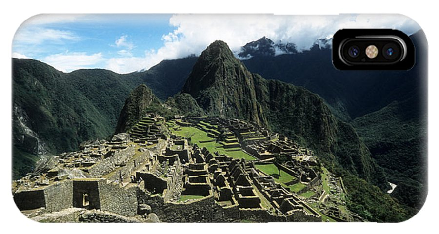 Peru IPhone X Case featuring the photograph Machu Picchu Panorama by James Brunker