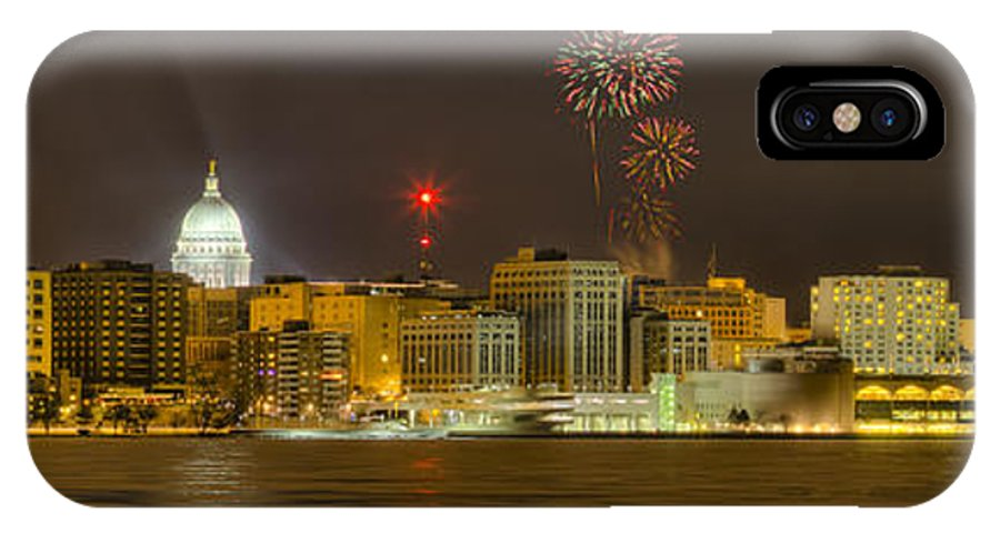 Capitol IPhone X Case featuring the photograph Madison New Years Eve by Steven Ralser