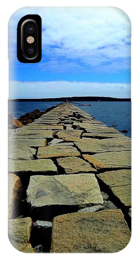 Landscape IPhone X Case featuring the photograph Maine by Dancingfire Brenda Morrell