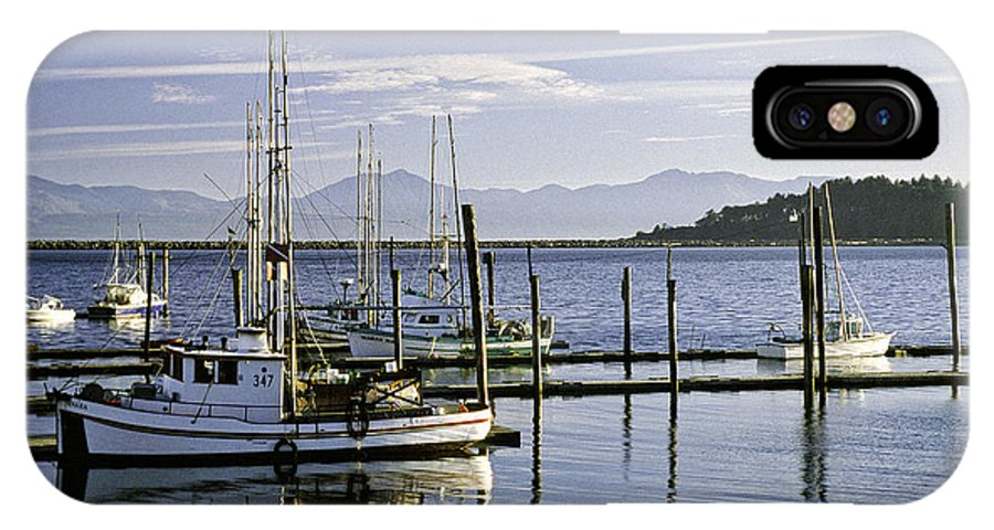 Seascape IPhone X Case featuring the photograph Makah Tribal Trawlers by Earl Johnson