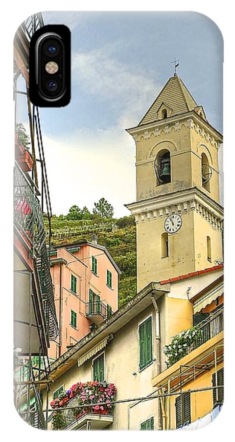 Buildings IPhone X Case featuring the photograph Manarola by Peter SPAGNUOLO