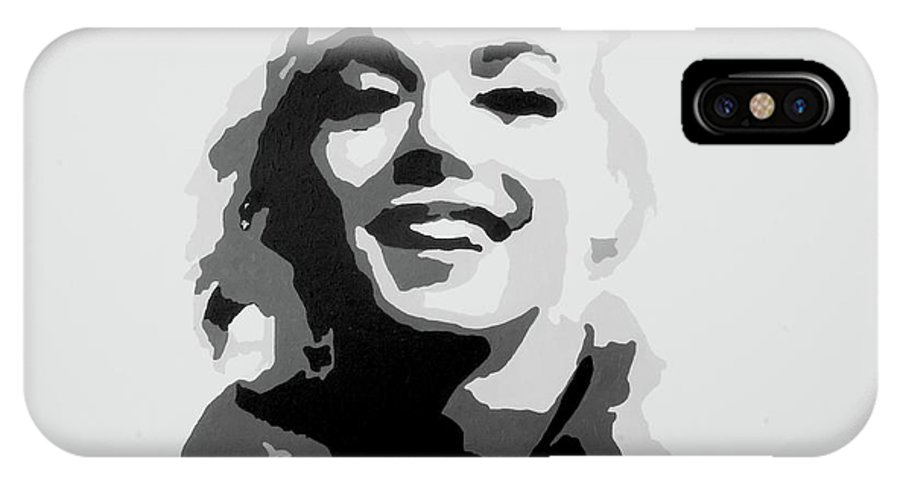 Marilyn Monroe IPhone X Case featuring the painting Marilyn Monroe by Katharina Filus
