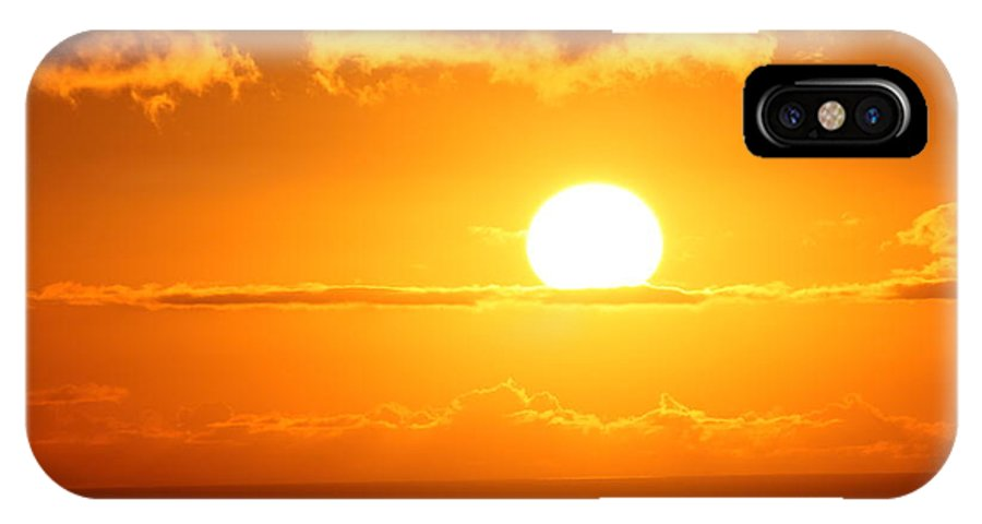 Maui IPhone X Case featuring the photograph Maui Kulamalu Sunset by Pharaoh Martin