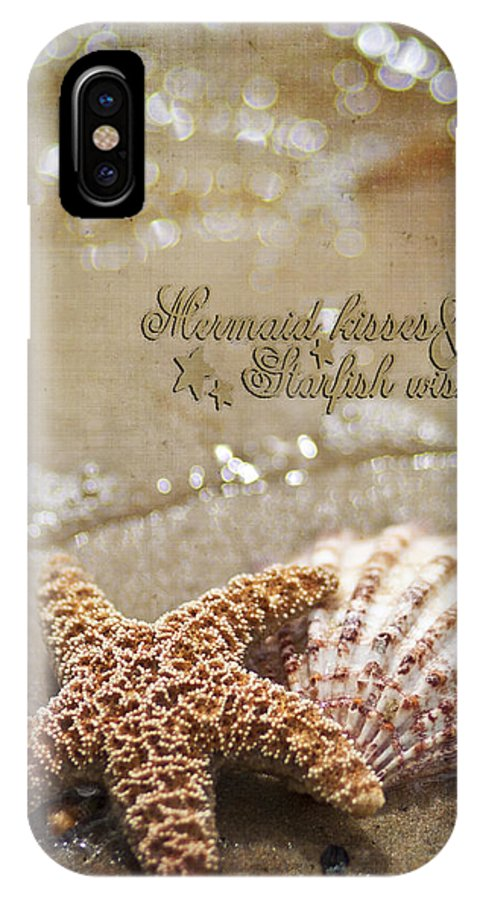 Starfish IPhone X Case featuring the photograph Mermaid Kisses And Starfish Wishes by Regina Williams