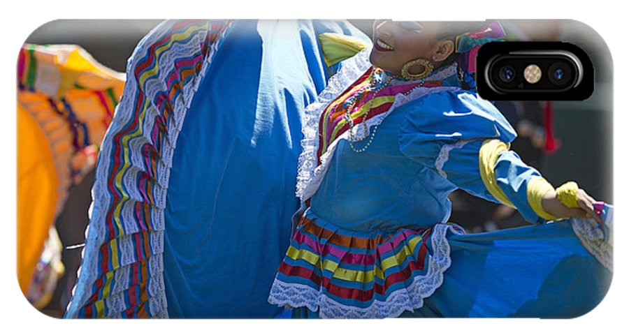 Mexican IPhone X Case featuring the photograph Mexican Folk Dancers by Jason O Watson