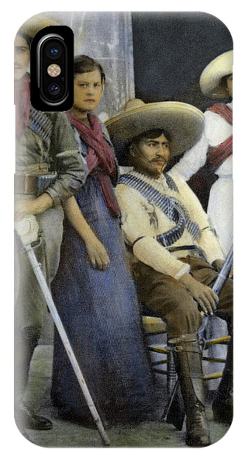 1910 IPhone X Case featuring the photograph Mexican Revolutionaries by Granger