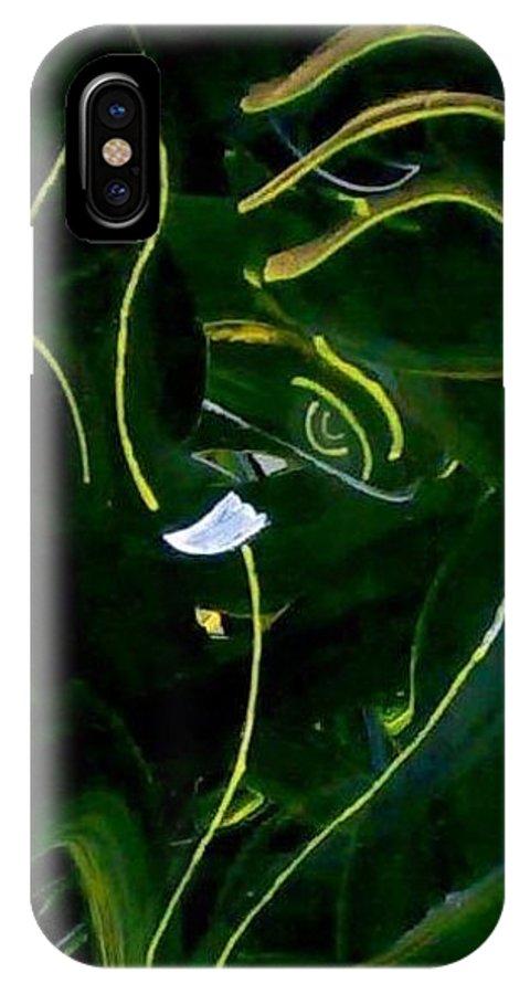 Modern Ganesha IPhone X Case featuring the painting Modern Ganesha by Poornima Ravi