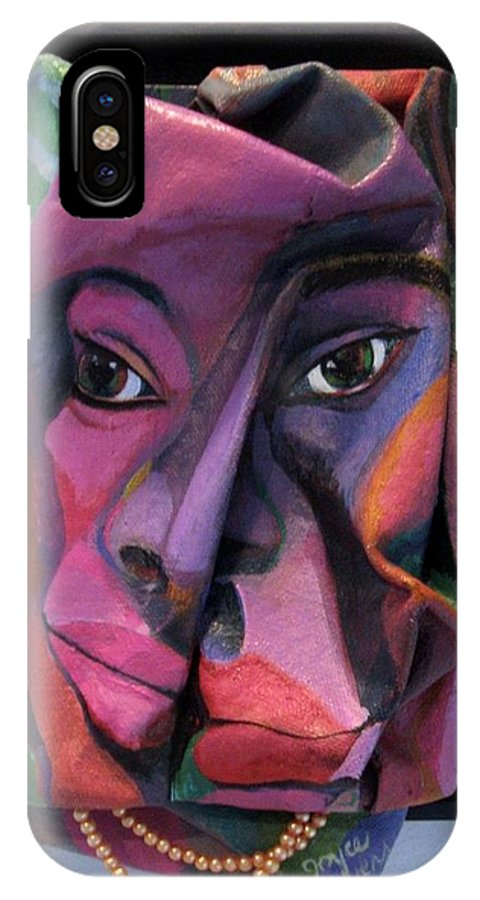 More Than Skin Deep IPhone X Case featuring the drawing More Than Skin Deep #2 by Joyce Owens