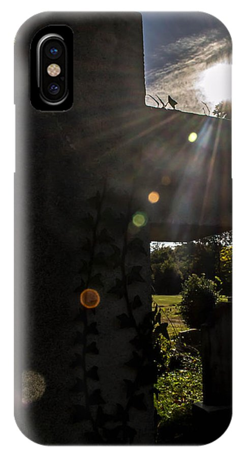 Cemetery IPhone X Case featuring the photograph Morning Glory by Carlee Ojeda