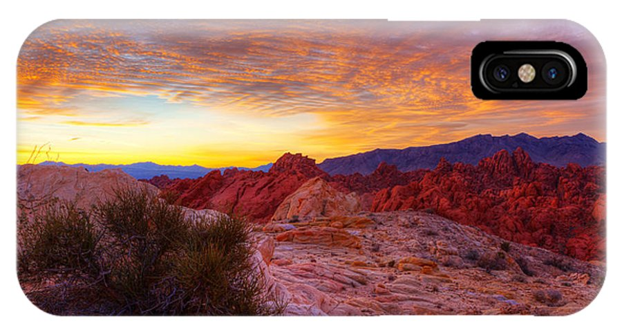 Valley Of Fire IPhone X Case featuring the photograph Morning Radiance by James Marvin Phelps