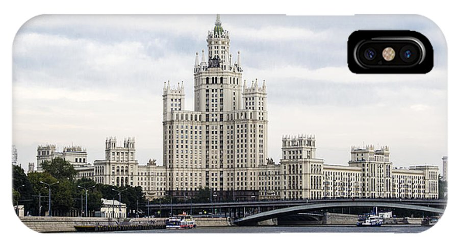 Moscow IPhone X Case featuring the photograph Moscow by Pravine Chester