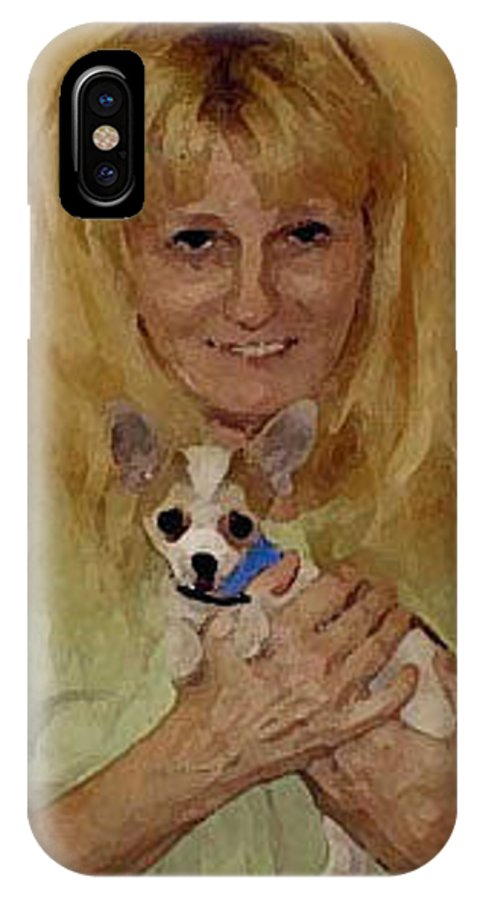 Chihuahua IPhone X Case featuring the photograph My Heart Belongs To Chachi by Leah Delano