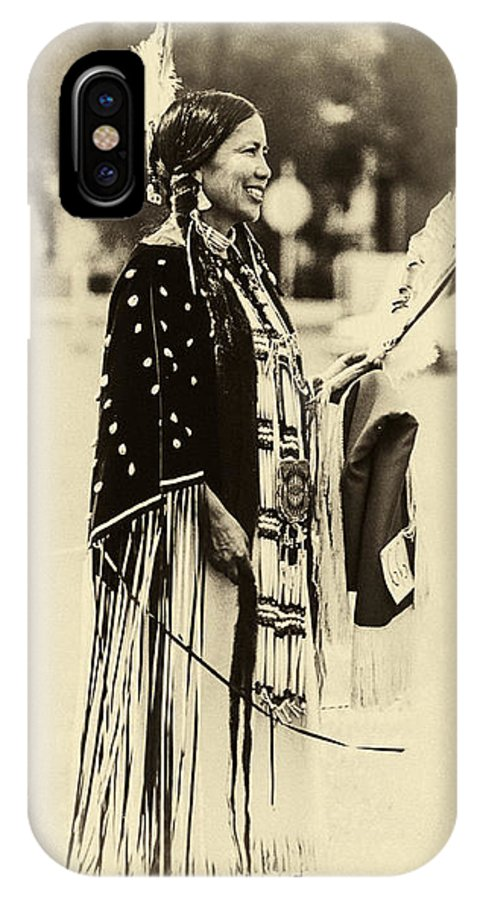 Native Americans IPhone X Case featuring the photograph Native American Pow Wow In Montana by Dariusz Janczewski