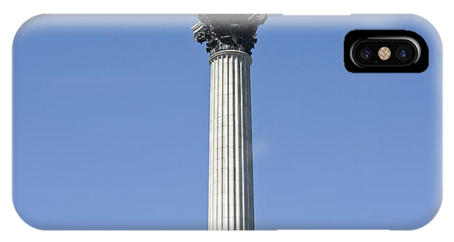 Nelson's Column IPhone X Case featuring the photograph Nelsons Column Trafalgar Square London by Peter Lloyd