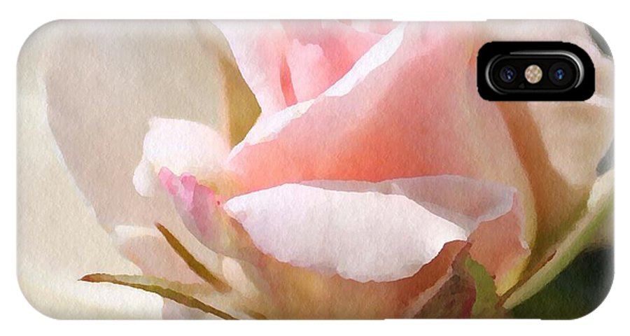 Rose IPhone X Case featuring the photograph Nestled by Sharon Johnston
