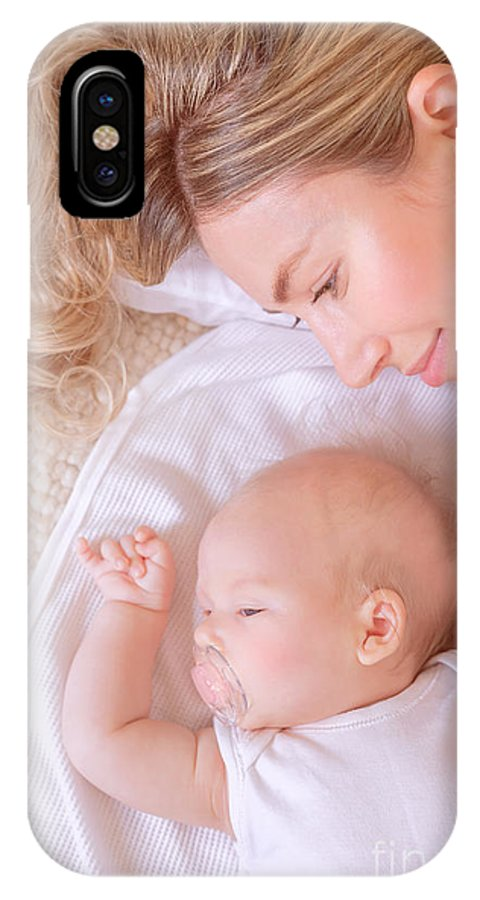 Baby IPhone X Case featuring the photograph New Life Concept by Anna Om