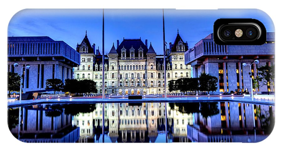 New York IPhone X Case featuring the photograph New York State Capitol by Denis Tangney Jr
