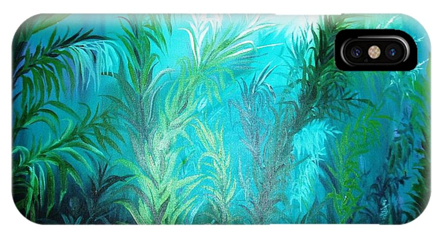 Ocean IPhone X / XS Case featuring the painting Ocean Plants by Rupa Prakash