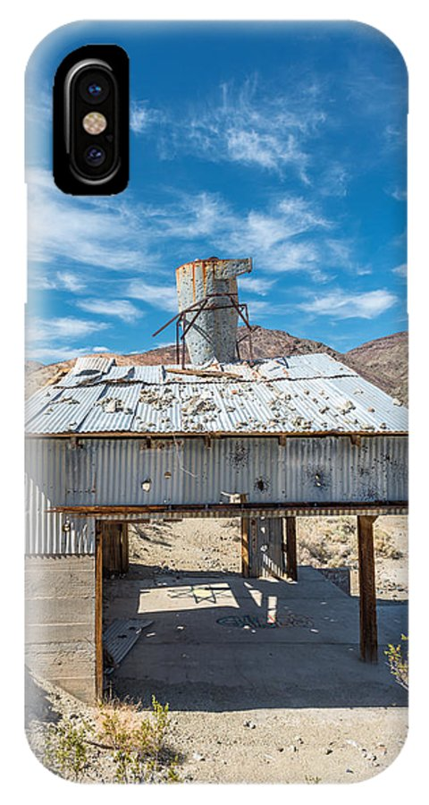 Landscape IPhone X Case featuring the photograph Old Mine On Old Toll Road In Death Valley by Alyaksandr Stzhalkouski
