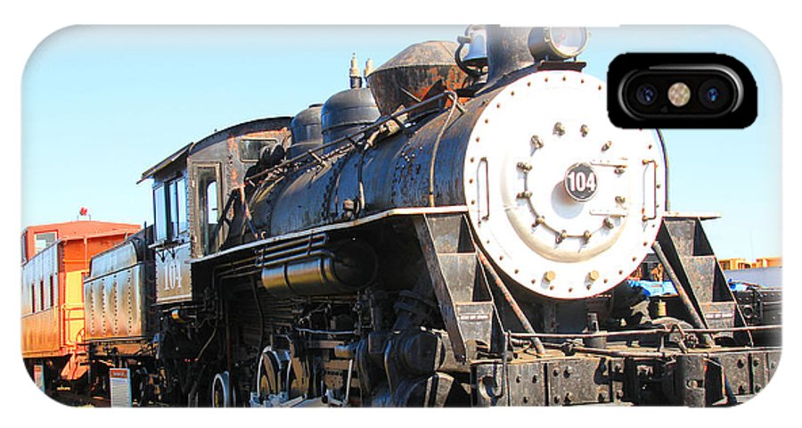 Trains IPhone X Case featuring the photograph Old Steam Engine by Kris Hiemstra